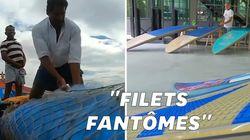 Des planches de surf fabriquées à partir des déchets trouvés dans