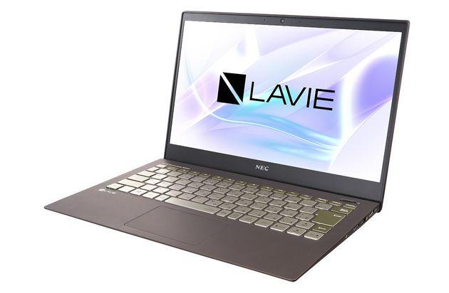 ▲同時発表された『PC-PM750NAA』。NEC PC製13.3型モバイルノート『LAVIE Pro Mobile』のCore i7/8GB/512GB NVMe