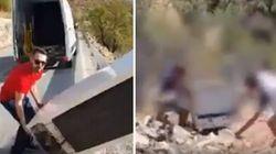I due che hanno lanciato un frigo dalla scarpata sono stati costretti a recuperarlo