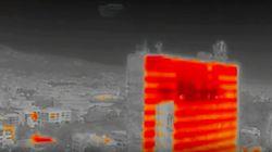 Πώς είναι τα κτήρια της Αθήνας στον καύσωνα - Βίντεο τα δείχνει με θερμική