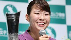 渋野日向子選手、狙いは東京オリンピック金メダル。「meijiカップはチョコレートが楽しみ」