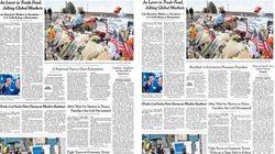 Il New York Times cambia il titolo su Trump e le stragi.