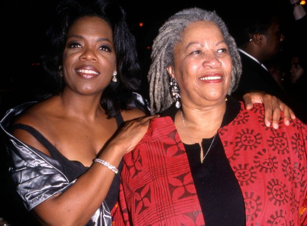 Oprah Winfrey and Toni Morrison attending The Beloved Movie Premiere at the Ziegfield Theatre, New York...