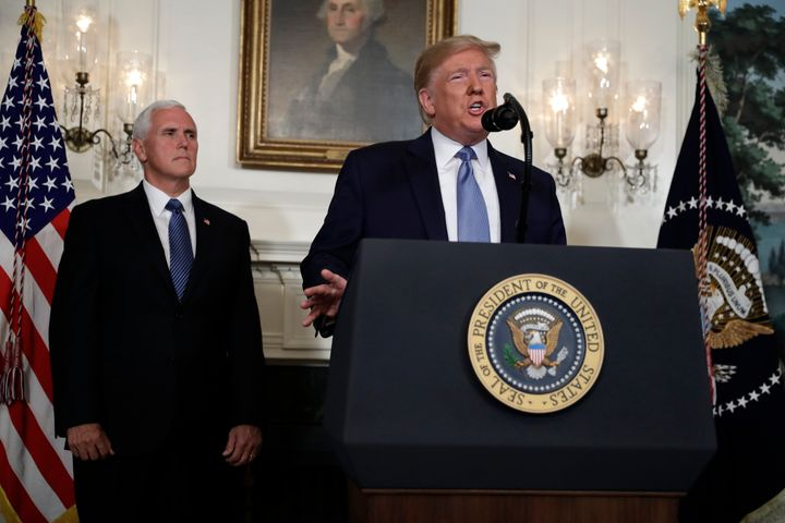 President Donald Trump speaks about the mass shootings in El Paso, Texas and Dayton, Ohio, at the White House on Monday.