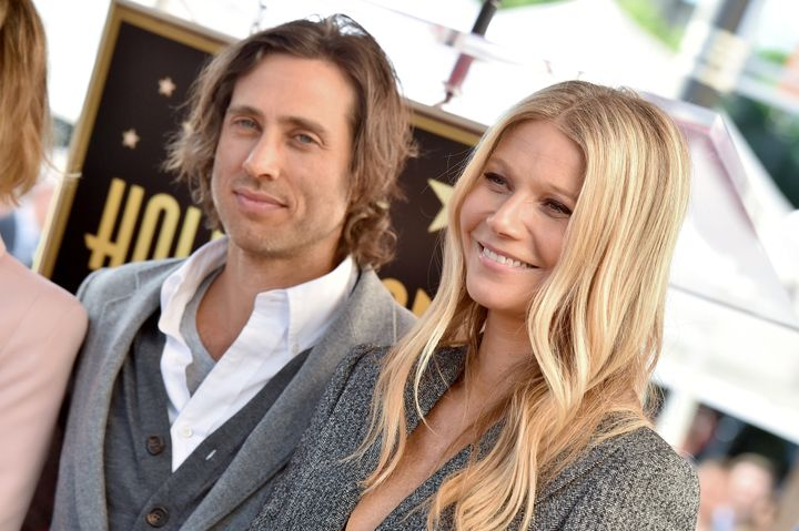 Falchuk and Paltrow attend the ceremony honoring Ryan Murphy with a star on the Hollywood Walk of Fame on Dec. 4, 2018, in Ho