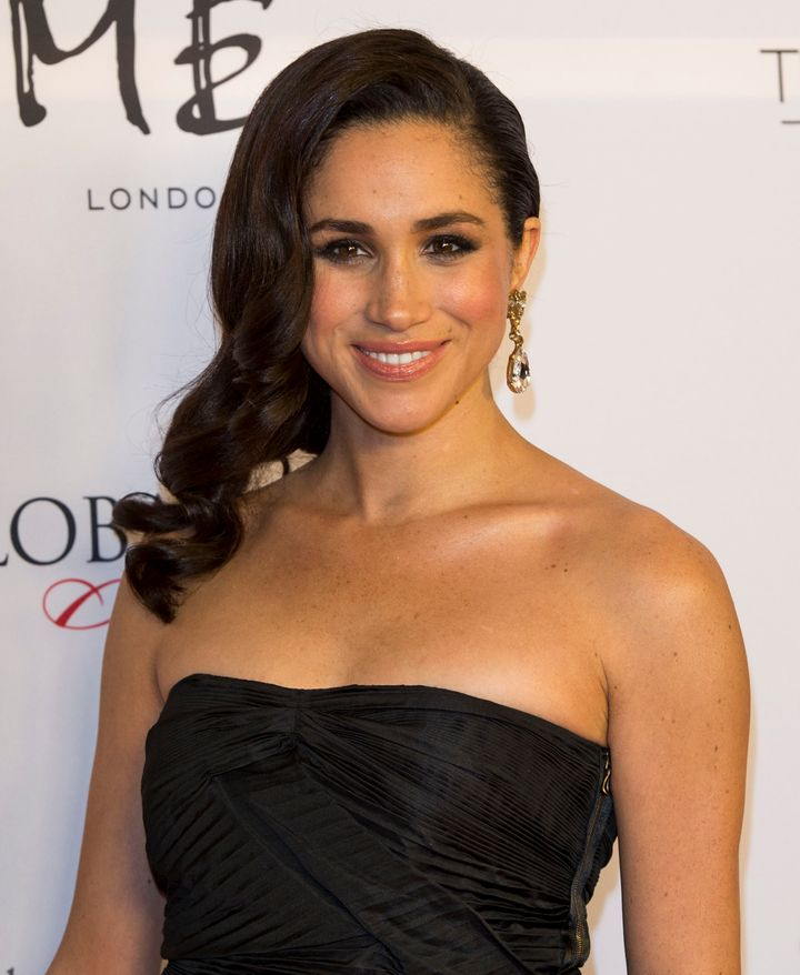 Meghan Markle at the London Global Gift Gala at ME Hotel on November 19, 2013, long before she was a royal.
