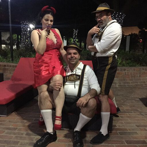 Smyth, Walton and Pablito on Halloween (2015).