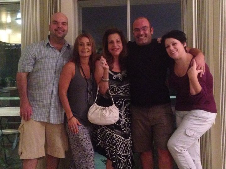 Walton, his sister-in-law Lily, his mom, Pablito and Smyth in Walton's apartment (September 2014).