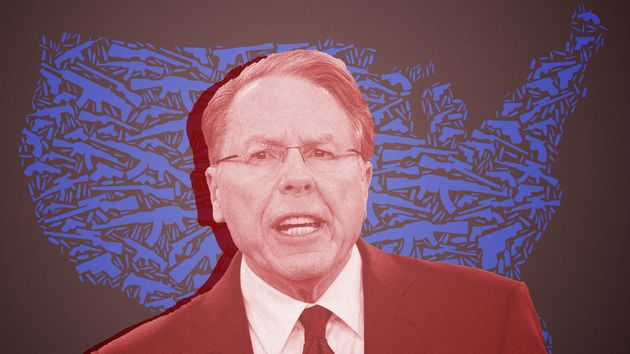 NRA chief executive Wayne LaPierre uses racist fearmongering to convince people to buy guns and oppose...