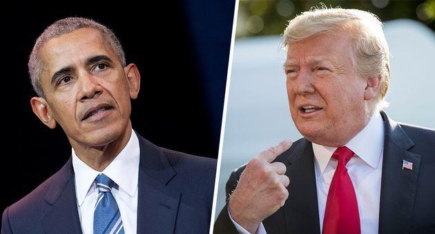 Barack Obama y Donald Trump, en sendas imágenes de