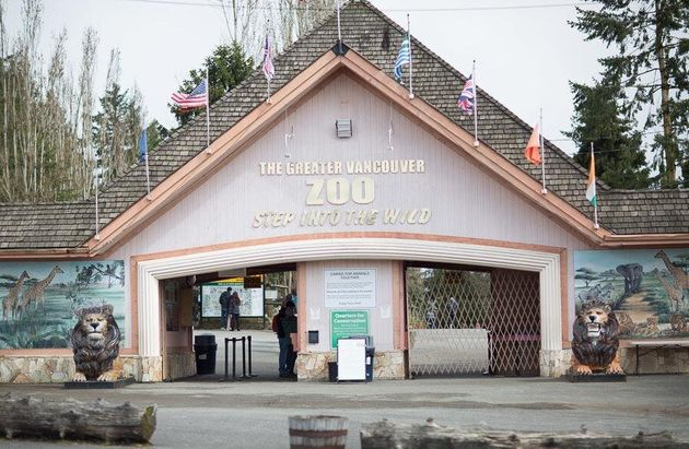The entrance of the Greater Vancouver Zoo in Aldergrove,