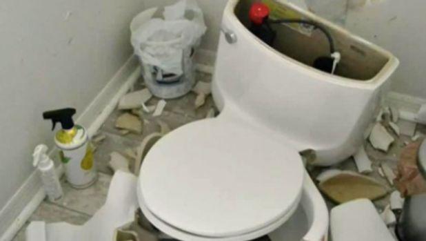 exploding toilet
