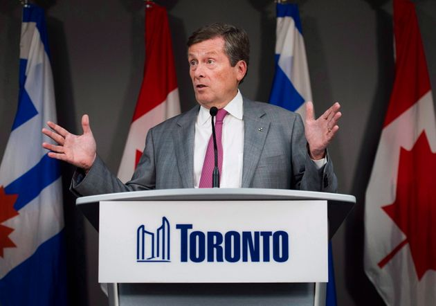 Toronto Mayor John Tory speaks on ongoing gun shootings in Toronto on July 18,