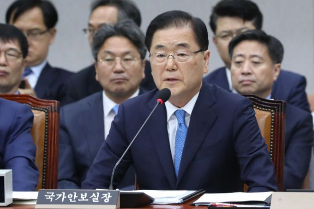 """정의용 """"북한 발사체 발사, 군사합의 위반 아냐…일본은 명분 없는 싸움 시작한"""