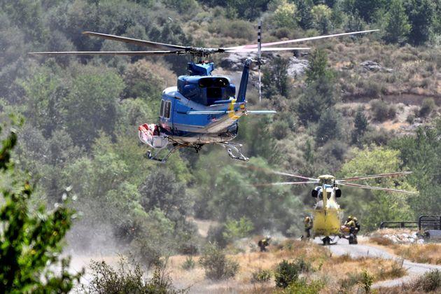 Los fuegos de La Granja y Miraflores, estabilizados tras quemar 900