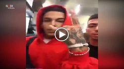 Il capo della banda e Sfera Ebbasta in un video dopo la tragedia di Corinaldo: