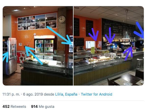 Sorpresa generalizada por lo que encontró un tuitero en un hotel de Valencia: