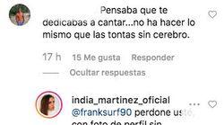 India Martínez destroza al seguidor que le hizo este comentario: 1.000 'me gusta' en un