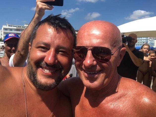Matteo Salvini lors de vacances à Papeete Beach sur la côte Adriatique,