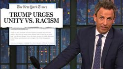 Seth Meyers Takes NYT To Task Over Controversial Trump