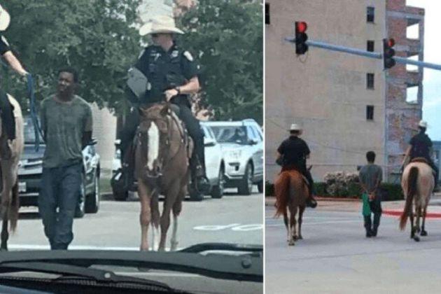USA: La photo d'un Noir tenu avec une corde par la police montée provoque un