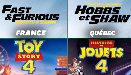 Pourquoi les films sont-ils retitrés au Québec et pas en