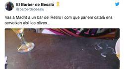 Un usuario denuncia la forma en que un bar de Madrid le sirvió unas aceitunas tras oírle hablar en