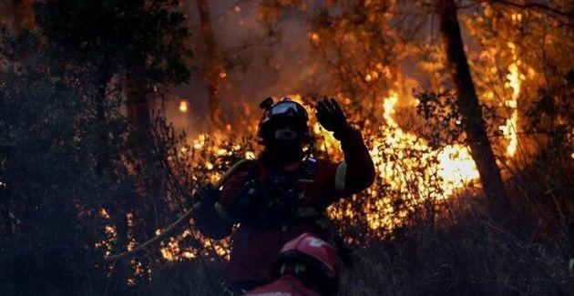 Detienen 'in fraganti' al autor de cinco incendios forestales en