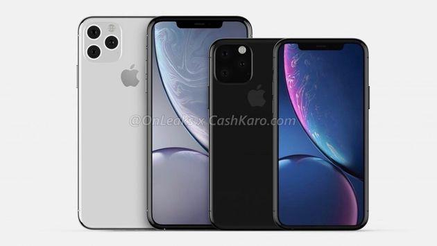 Un rendu 3D des designs des iPhone 11 (droite) et iPhone 11 Max (gauche) réalisé par