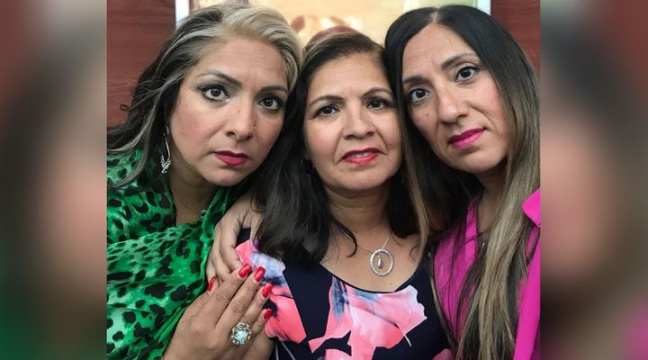 Jeeti Pooni (left) with her sistersSalakshanaPooni (centre) andKiraPooni. They were all complainants in a sexual assault trial.