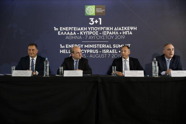 Υπουργική διάσκεψη Ελλάδας-Κύπρου-Ισραήλ-ΗΠΑ: Στήριξη των ελληνικών και κυπριακών