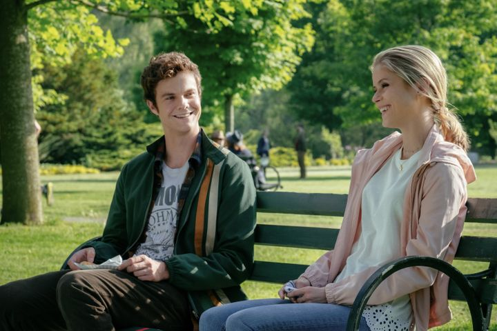 "Jack Quaid and Erin Moriarty in ""The Boys."""
