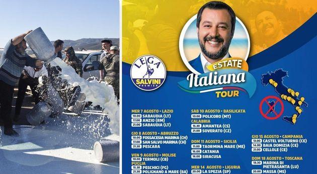 Il Beach Tour di Salvini evita la Sardegna, dove le promesse ai pastori non sono state