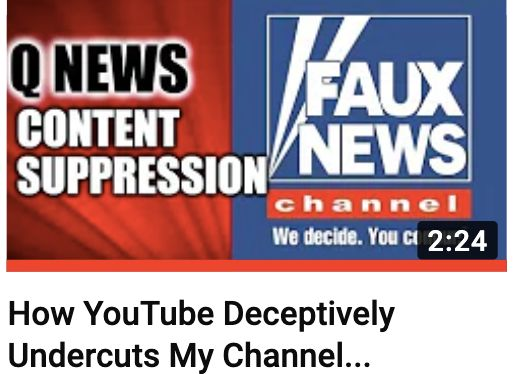 Conspiracy theorists are angry that recommendations for Fox News segments are appearing on their YouTube videos.