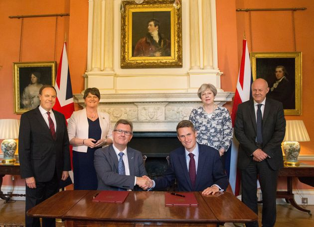 May strikes a confidence and supply deal with the DUP after losing the Tories'