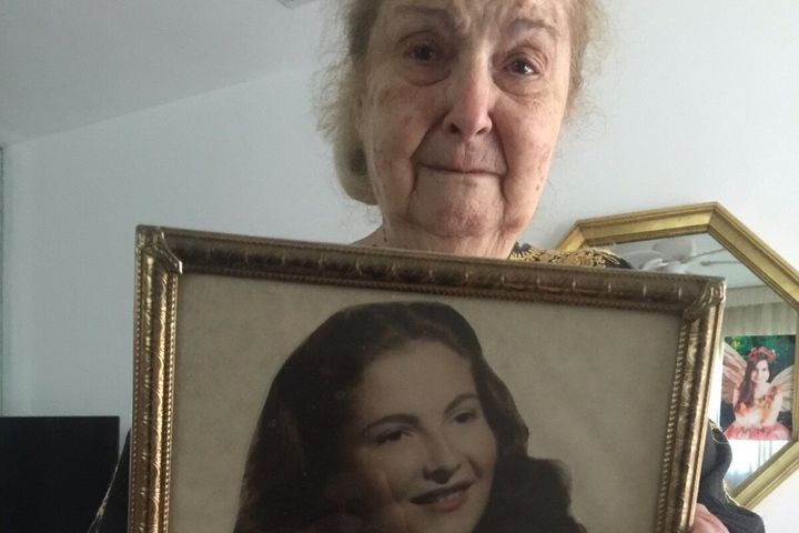 "Rella Herman appears in a photo posted to a <a href=""https://www.gofundme.com/f/help-rella-holocaust-survivor-robbed-by-caret"