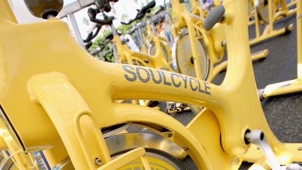 PALM SPRINGS, CA - APRIL 15:  SoulCycle pop-up studio atmosohere at the American Express Platinum House at The Parker Palm Springs on April 15, 2017 in Palm Springs, California.  (Photo by Ari Perilstein/Getty Images for American Express)