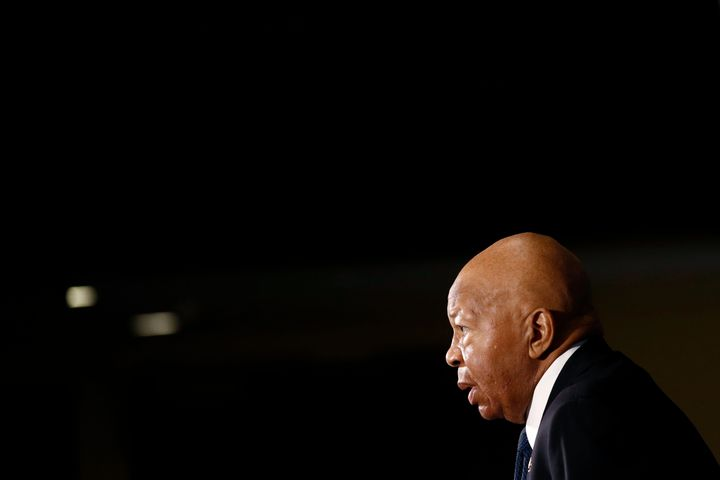 Rep. Elijah Cummings (D-Md.) speaks during a luncheon at the National Press Club on Aug. 7.