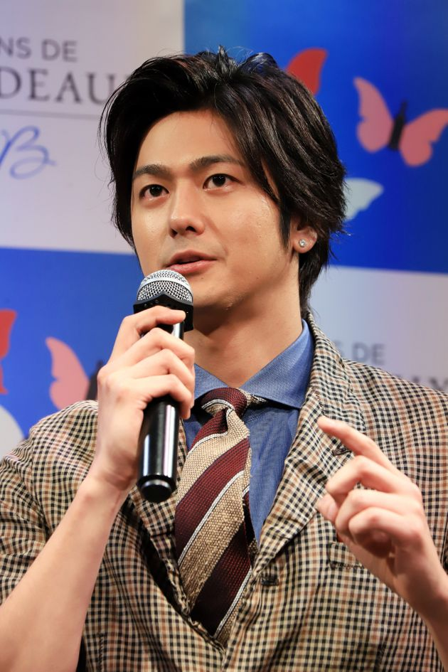 ボルドーワインを楽しめる期間限定のバー「MY BORDEAUX PARTY」(4月20~22日)のオープニングイベントに出席した俳優の速水もこみちさん(東京都)撮影日:2018年04月19日