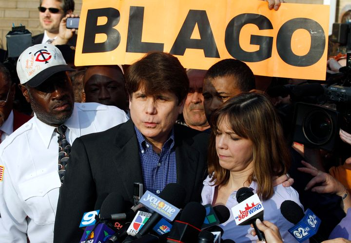 "Former Ill. Gov. Rod Blagojevich was also a contestant on Trump's ""Celebrity Apprentice"" reality TV show."