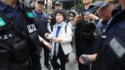 '엄마부대' 주옥순씨가 시민단체 관계자들에 봉변을