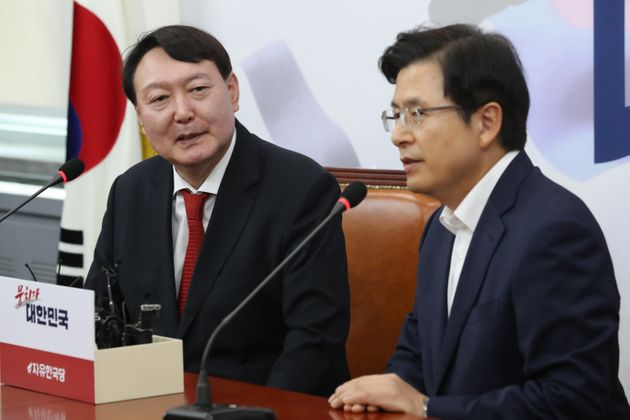 황교안 대표가 검찰인사를 거론하며 윤석열 총장에 우려를