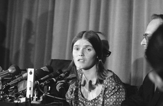 Linda Kasabian, at a press conference she held at end of her 18 days on stand as a prosecution witness...