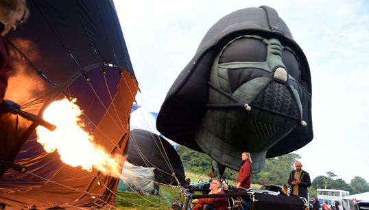 Darth Vader Brings The Dark Side To Europe's Largest Ballooning