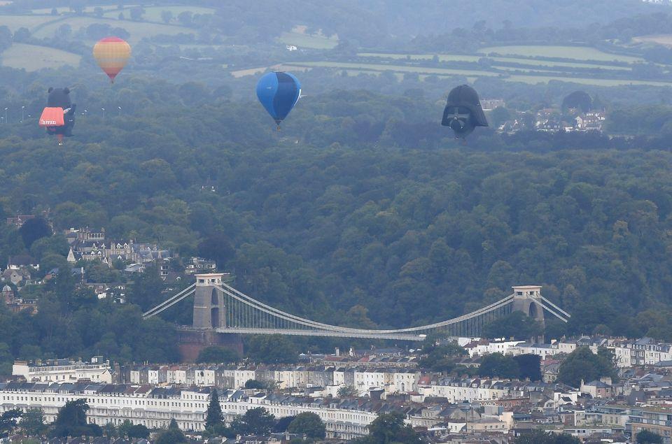 Darth Vader Brings The Dark Side To The 2019 Bristol International Balloon