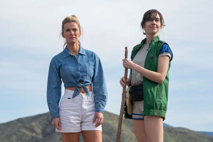"Betty Gilpin and Alison Brie in ""GLOW."""