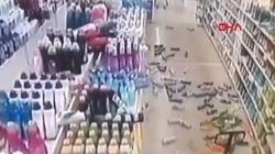 Tα βίντεο από τον ισχυρό σεισμό στην