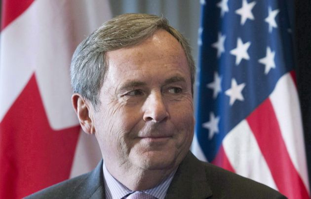 David MacNaughton attends a business luncheon in Montreal in on Nov. 16,