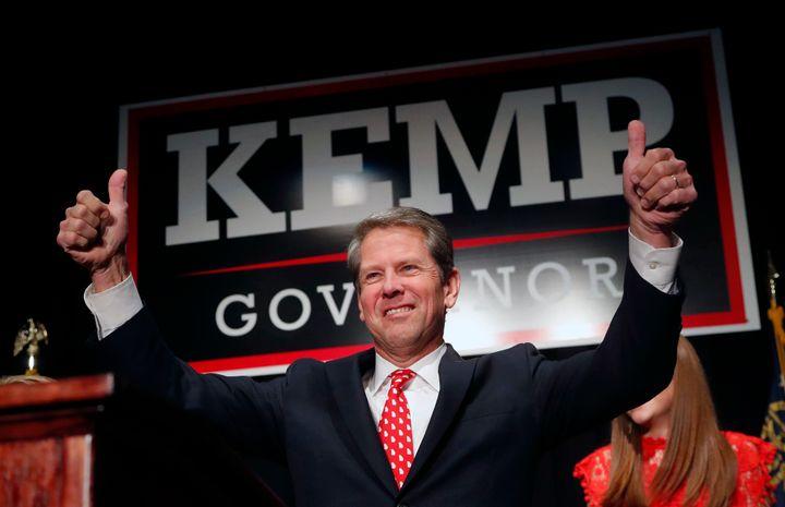 Republican gubernatorial candidate Brian Kemp in Athens, Ga., in 2018. (Photo: John Bazemore/AP)