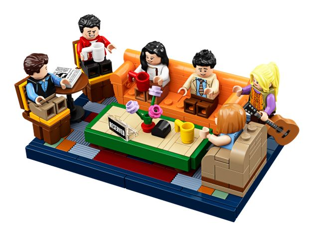 From left: Figures of Chandler, Joey, Monica, Ross, Phoebe and Rachel are included in the new Lego
